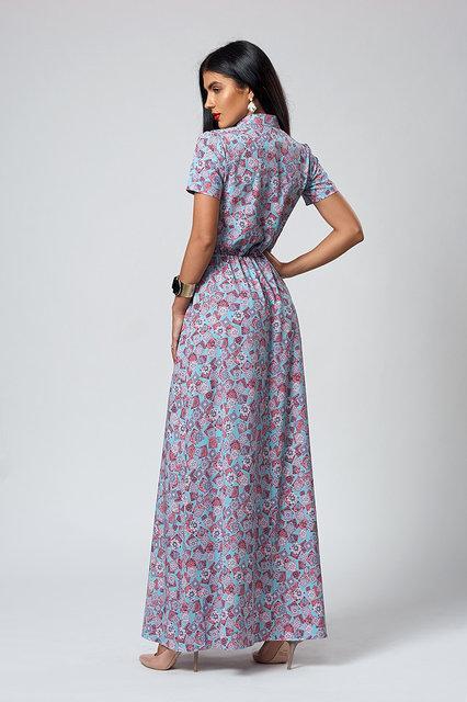 c4ba4270b1d Летнее длинное платье в мелки цветочек размер:44-46: продажа, цена в ...