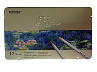 """Цветные карандаши """"Marco"""" 12 цветов (в пенале)"""