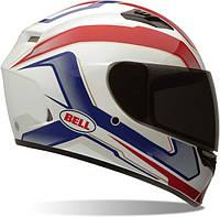 Мотошлем BELL Qualifier Cam ECE белый красный синий S
