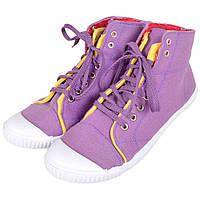 Кеды женские высокие фиолетовые LCW1126-07