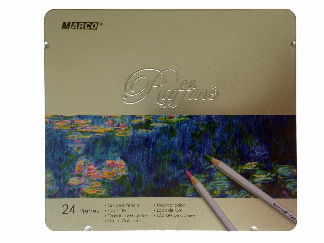 """Цветные карандаши """"Marco"""" 24 цвета (в пенале)"""
