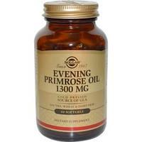 Масло примулы вечерней (Evening Primrose Oil), Solgar, 1300 мг, 60 капсул