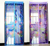 Антимоскитная сетка на магнитах дверная 210х100 см. с рисунком ZP