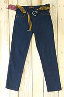 Штаны котоновые брюки с поясом для мальчиков светло синие Турция на возраст 10-11 лет