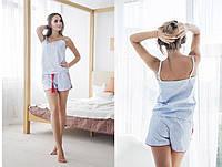 Пижама женская из 100% хлопка: майка и шорты (3 цвета)