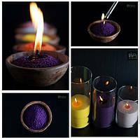 Цветные свадебные насыпные свечи - все цвета радуги