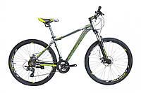 "Велосипед KINETIC STORM 27.5"", рама 17"" , серо-зеленый"