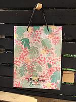 Подарунковий пакет Квіти 25 см / Подарочный Пакет Цветы 250 мм