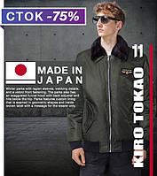 Японская демисезонная стильная куртка Киро Токао 229 хаки