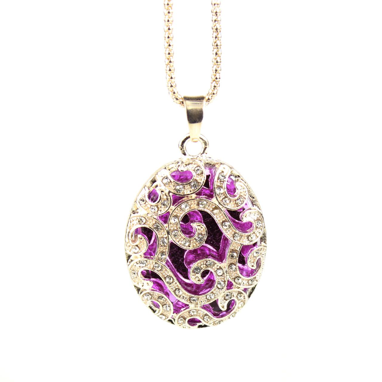 Ожерелье Betsey Johnson Purple Stone