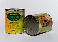 Консервы Baskerville для собак петух с рисом и цукини, 800 г