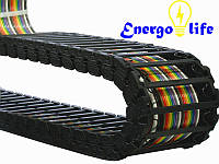 Энергоцепь открытая (гибкий кабельный канал) 80/35 мм, радиус 55, 75, 150