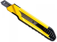 Маленький нож для отделочных работ с выдвижным 9мм отламывающимся лезвием Stanley