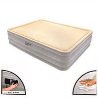 Велюр кровать 67486 встроенный насос , дорожная сумка 203-152-46см KPK