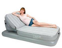 Велюр кровать 67386 Надувная кровать-шезлонг с поднимающейся спинкой 211-104-81см VMC