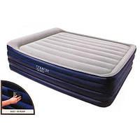 Велюр кровать 67528 подголовник, встроен насос , дорожная сумка 203-152-56см DCP