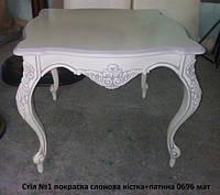 Квадратный журнальный стол в стиле барокко №1