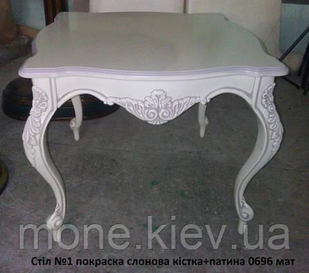 Квадратный журнальный стол в стиле барокко №1, фото 2