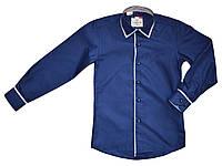 Рубашка школьная на мальчика синяя ТМ Lagard Kids размер 116 122 152 158