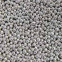 Сахарные бусинки серебро 3 мм.