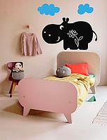 """Детская наклейка на стену виниловая """"Бегемотик"""" для детской комнаты"""