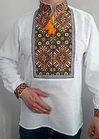 Мужская вышиванка с цветной вышивкой