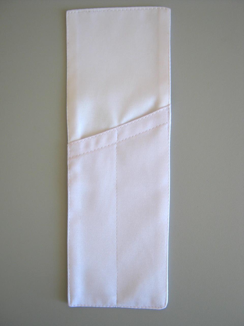 """Куверт (конверт) 8*25см,на 2 прибора,""""Журавинка""""гладь, белый."""