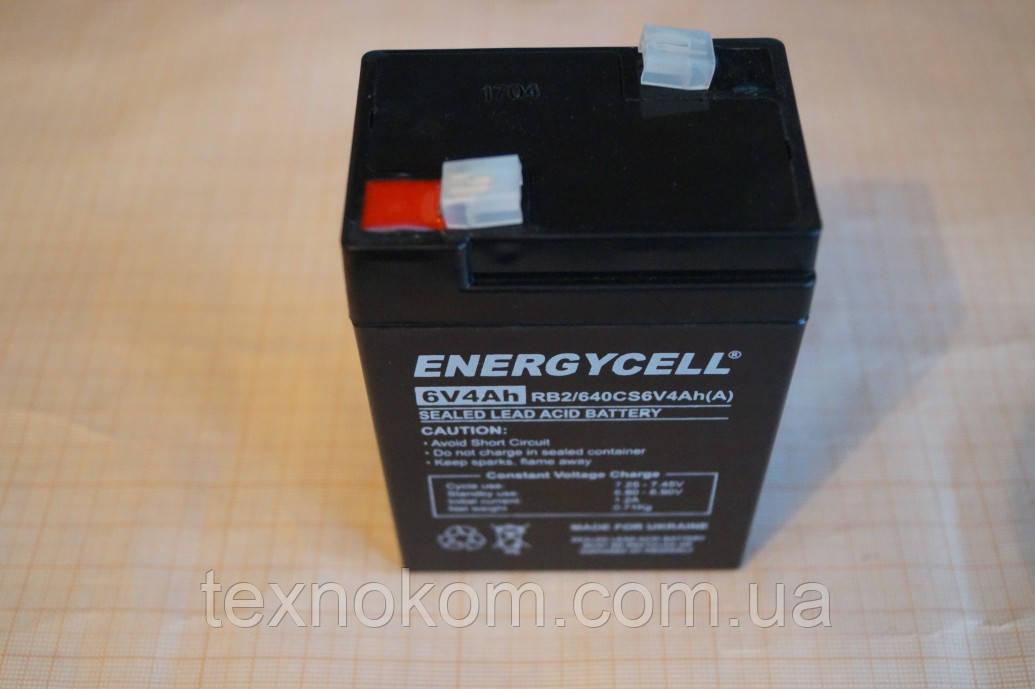 Аккумулятор ENERGYCELL 6V 4,0Ah, для электронных весов, фонариков