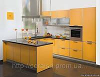 Кухни, пластиковые фасады в алюминиевом профеле
