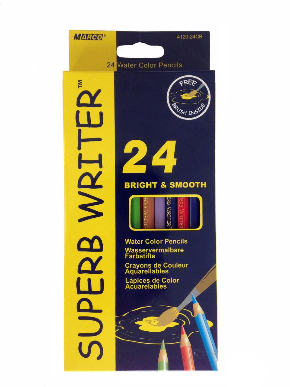"""Акварельные цветные карандаши """"Marco"""" 24 цвета"""