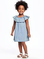 Летнее легкое платье шамбре Old Navy Олд Неви для девочки