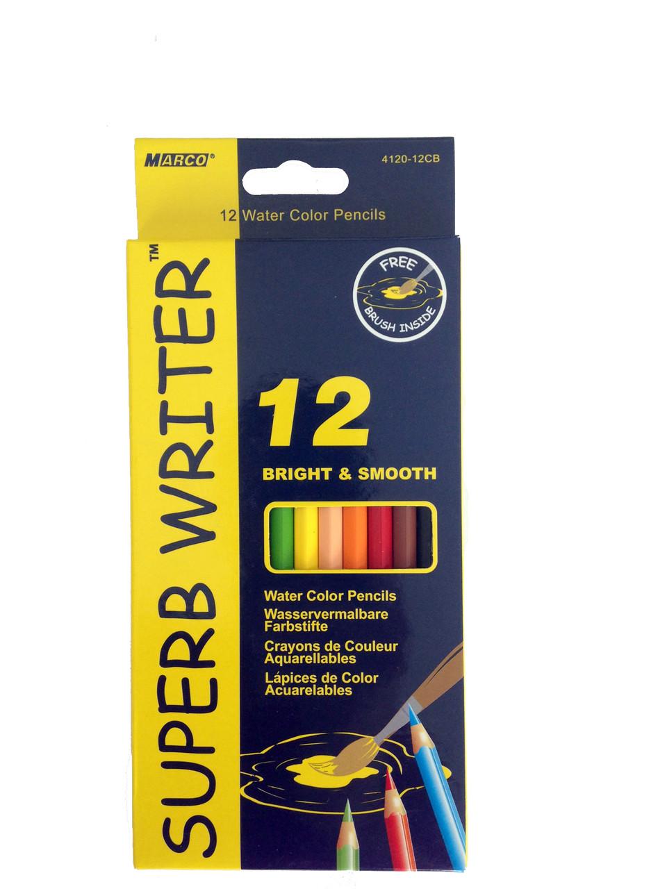 """Акварельные цветные карандаши """"Marco"""" 12 цветов"""