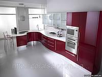 Кухня с крашенными гнутыми фасадами купить Украина