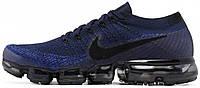 """Мужские спортивные кроссовки Nike Air Vapormax Flyknit Day To Night Pack """"Navy/Black"""" (Найк) синие"""