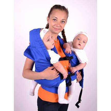 Эргономичный рюкзак для двойни (6 мес-2 года) бордовый, фото 2