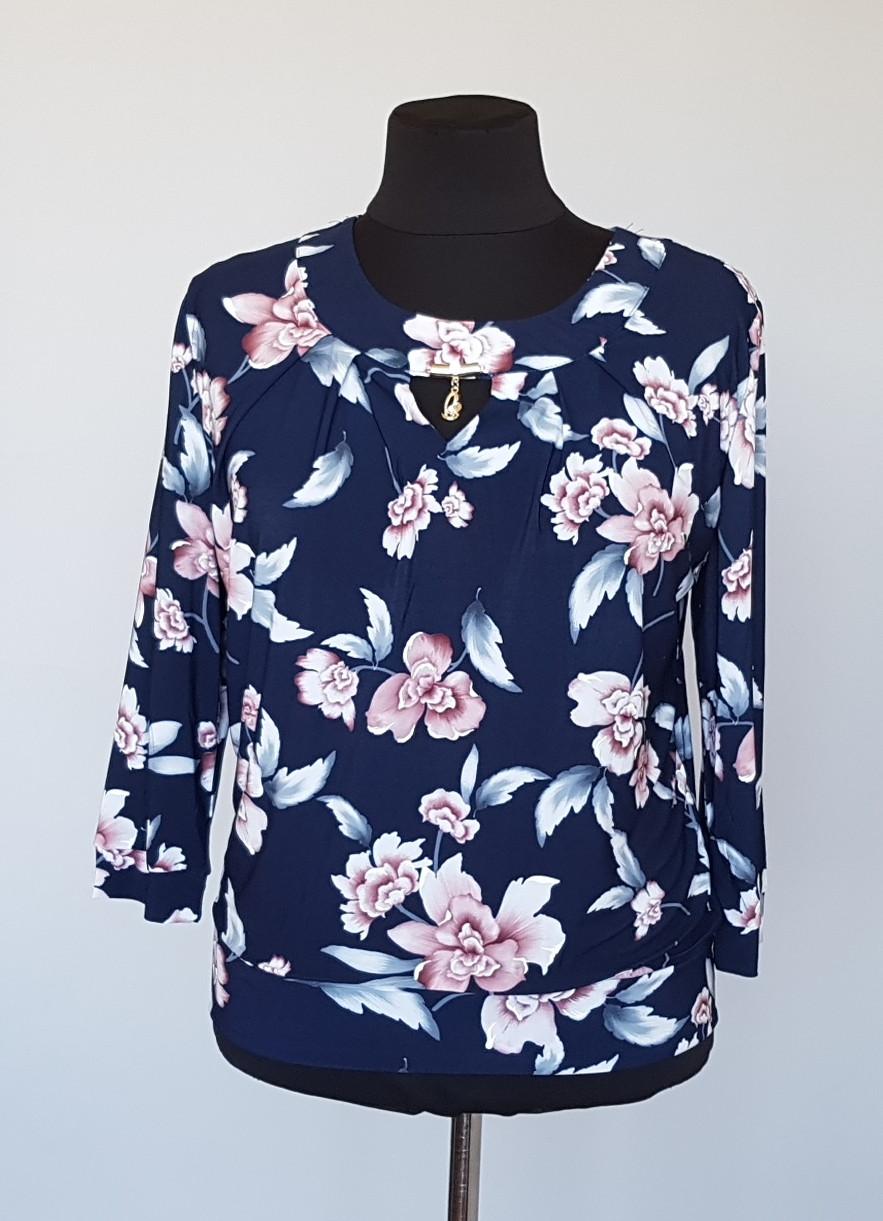Блуза женская с округлым вырезом