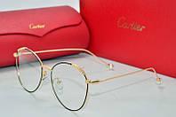 Оправа Cartier золотая и черным с листочками, фото 1