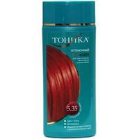 Оттеночный бальзам для волос Тоника 5.35 Красный янтарь