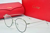 Оправа Cartier черное и серебро с листочками