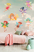 """Виниловые наклейки в детскую девочке """"Маленькие феи"""" наклейки на стену в детскую"""