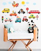 """Интерьерные наклейки в детскую на стены и мебель """" Машинки"""""""
