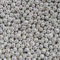 Сахарные бусинки серебро 6 мм.