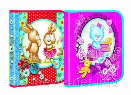 "Папка для тетрадей Мультяшки - ""Cute&Lovely"". Картон, размер B5, глитер с 2-х сторон"