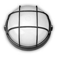 Светильник Lemanso круг. металлический 60W с решеткой IP44 / BL-1302 черный