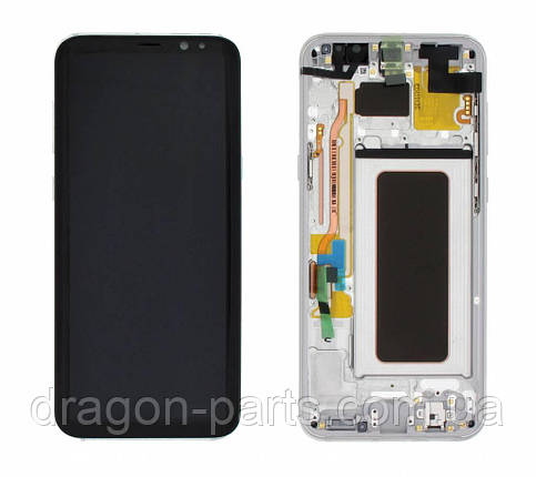 Дисплей Samsung G955 Galaxy S8 plus с сенсором Серебряный Silver оригинал , GH97-20470B, фото 2