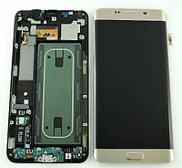 Дисплей Samsung G928 Galaxy S6 Edge plus с сенсором Золотой Gold оригинал , GH97-17819A