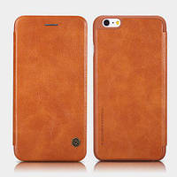 """Кожаный чехол-книжка Nillkin Qin для Apple iPhone 6/6s (4.7"""") (Коричневый)"""
