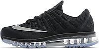 Мужские спортивные кроссовки Nike Air Max 2016 Black (Найк Аир Макс) черные