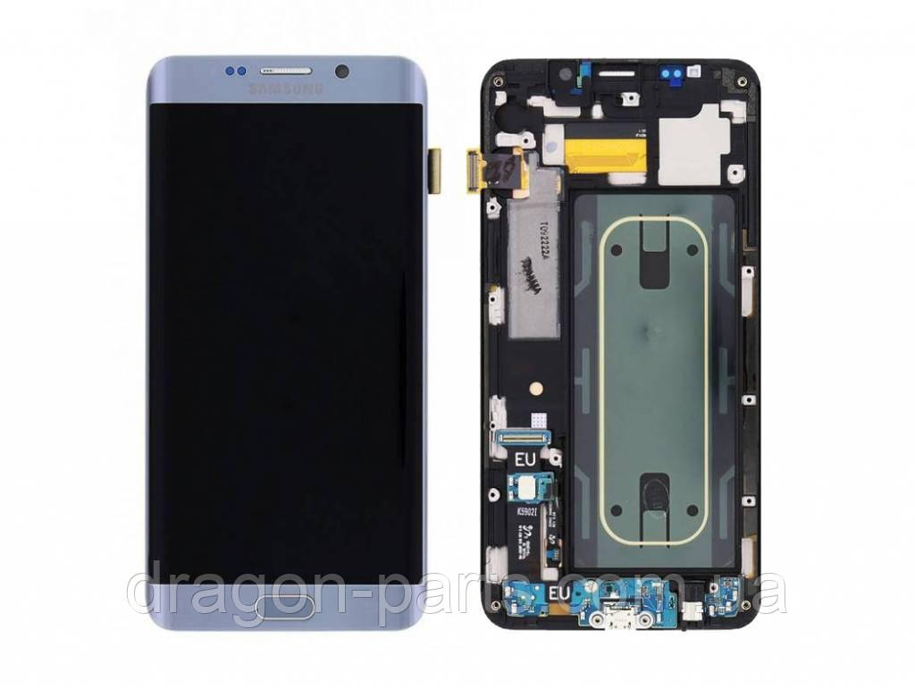 Дисплей Samsung G928 Galaxy S6 Edge plus с сенсором Серебряный Silver оригинал , GH97-17819D