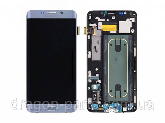 Дисплей Samsung G928 Galaxy S6 Edge plus с сенсором Серебряный Silver оригинал , GH97-17819D, фото 2